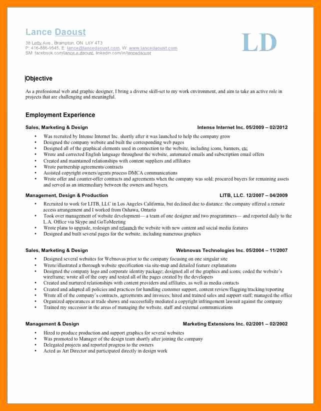 7 Self Employment Resume
