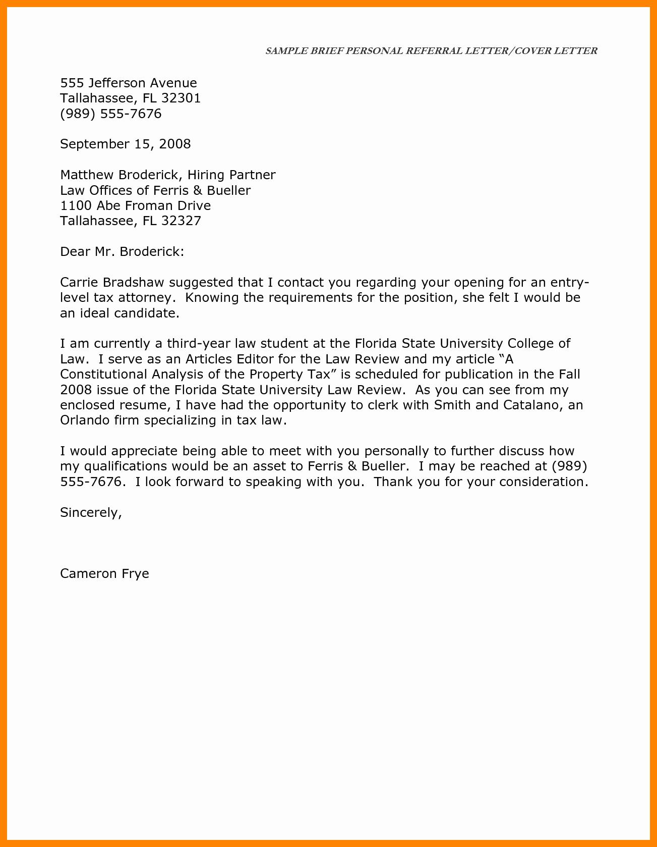 7 Short Application Cover Letter