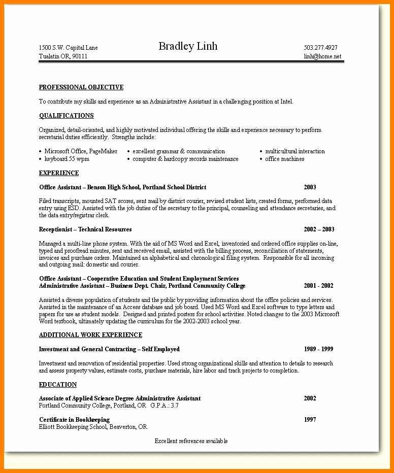 7 Skills Based Resume Example