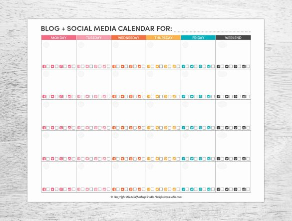 7 social Media Schedule Templates Free Sample Example
