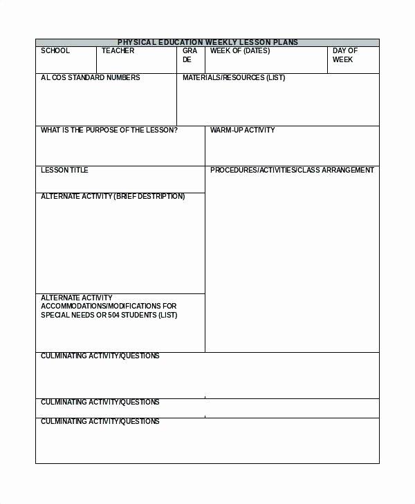 7 Step Lesson Plan Template Sample Hunter Download Free