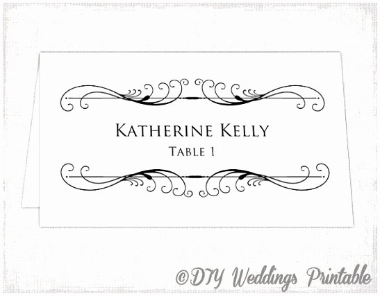 7 Table Name Cards Template Word Iappt