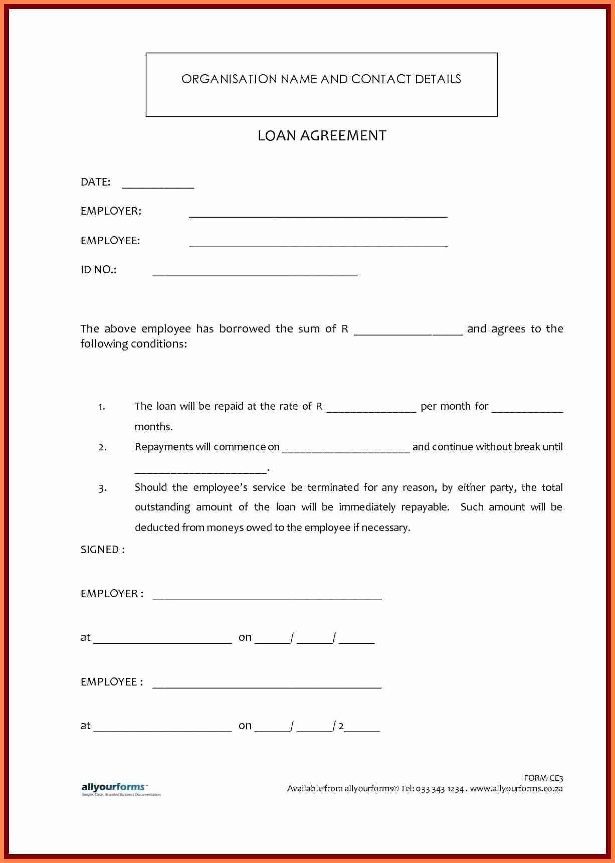 7 Template Loan Agreement Between Family Members