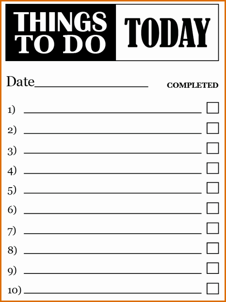 7 to Do Lists Templates