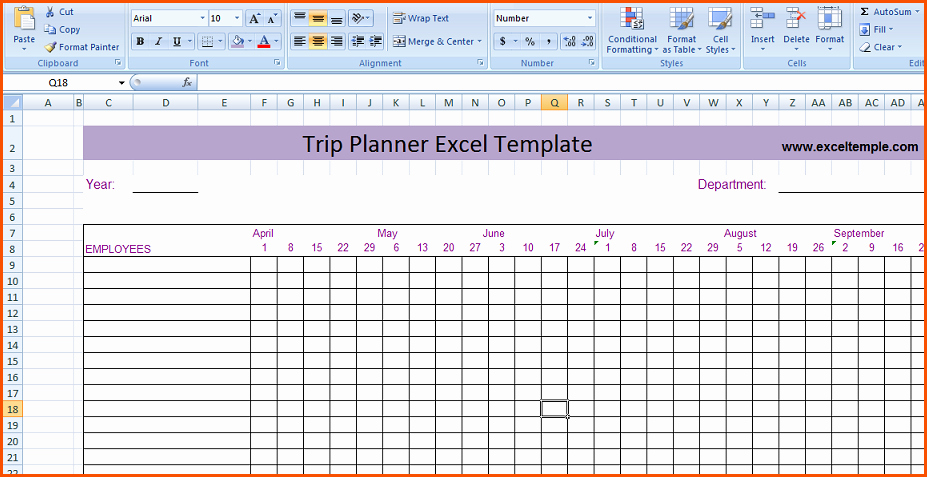 7 Trip Planner Templatememo Templates Word