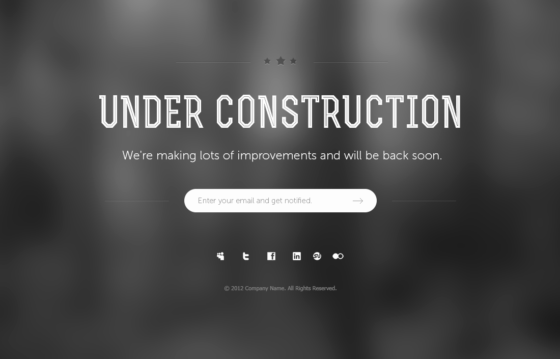 7 Under Construction Page Psd Templates