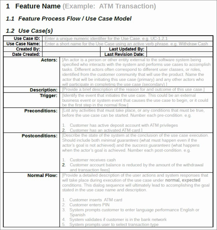 7 Use Case Templates Free Ppt Excel Doc Example formats