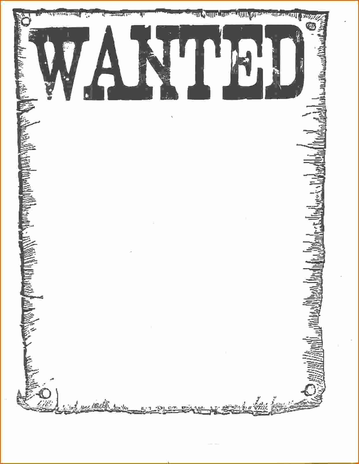 7 Wanted Poster Template Microsoft Word