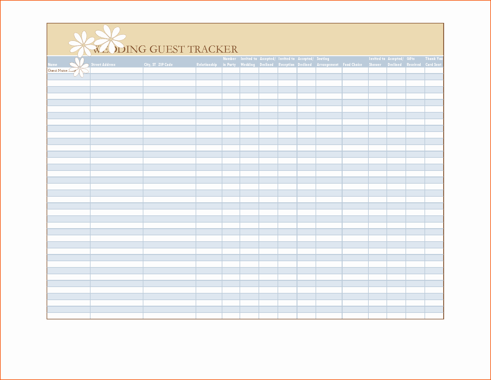 7 Wedding List Template Bookletemplate