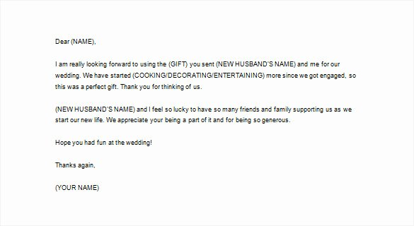7 Wedding Thank You Letter Free Word Excel Pdf format