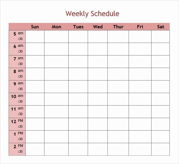 7 Weekend Scheduled Samples