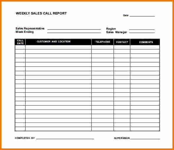 7 Weekly Sales Report Template