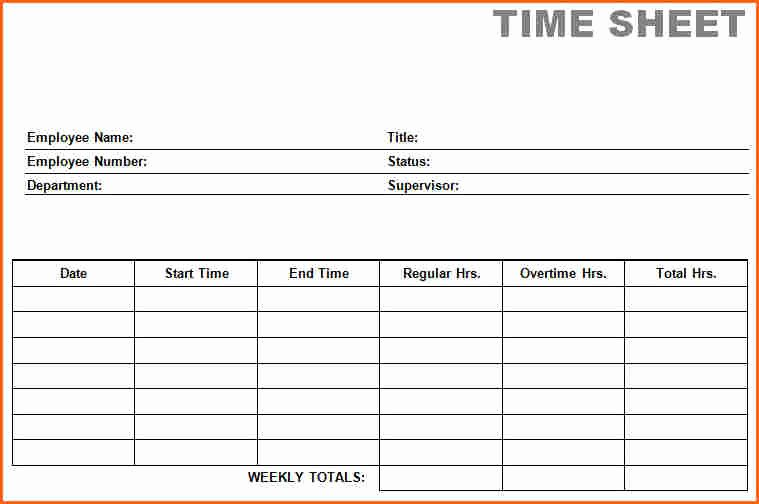 7 Weekly Time Card Template Free Bud Template Letter