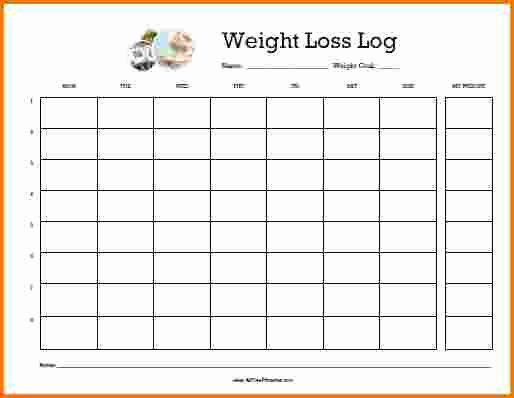 7 Weight Loss Log