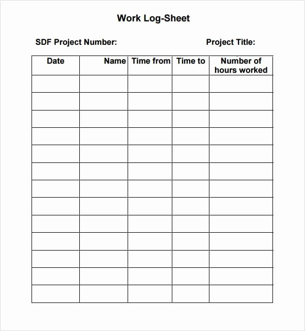 7 Work Log Templates Word Excel Pdf formats