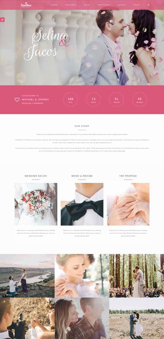 70 Best Wedding Website Templates Free & Premium