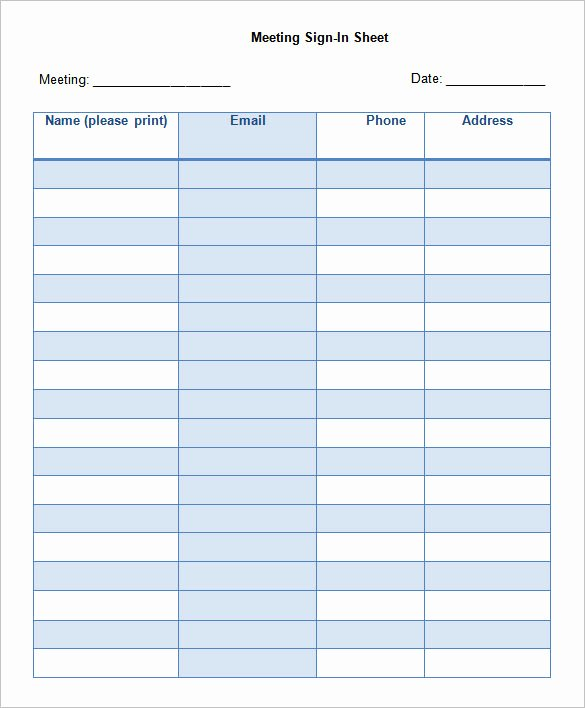 75 Sign In Sheet Templates Doc Pdf