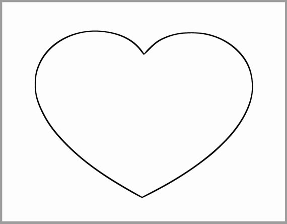 8 5 Inch Heart Printable Template Extra Heart