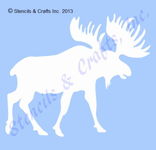 "8 5"" Moose Stencil northwoods Animal Stencils Template Art"