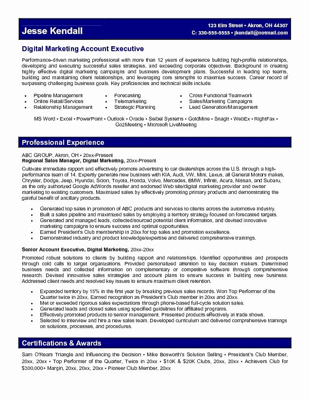 8 9 social Media Marketing Resume