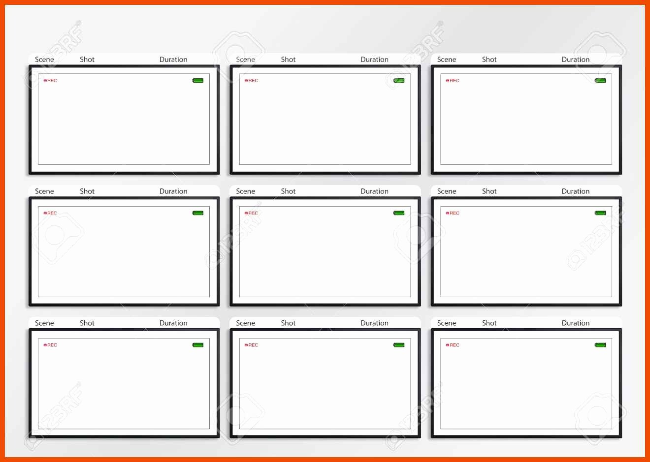 8 9 Storyboard Template