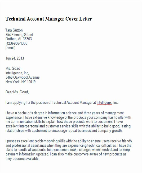 8 Account Manager Cover Letters