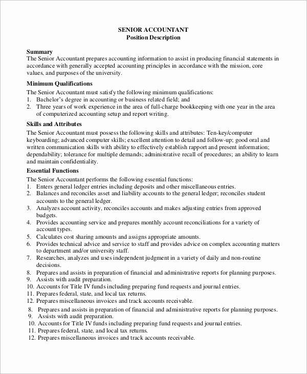 8 Accounting Job Description Samples