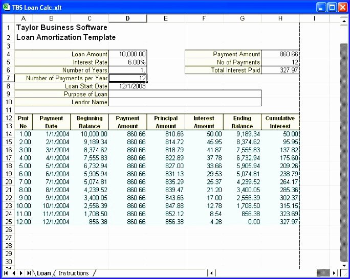 8 Amortization Schedule Excel Template Exceltemplates
