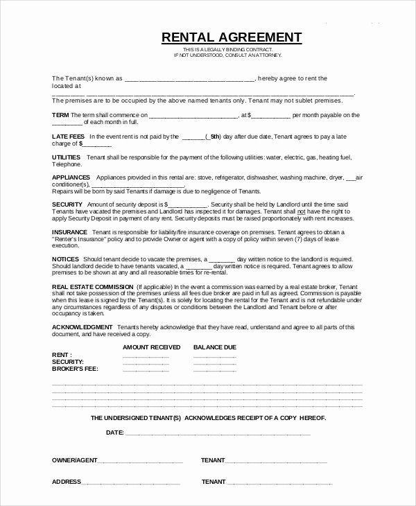 8 Apartment Rental Contract Samples