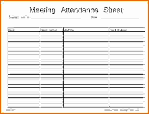 8 attendance Sheet Pdfreference Letters Words