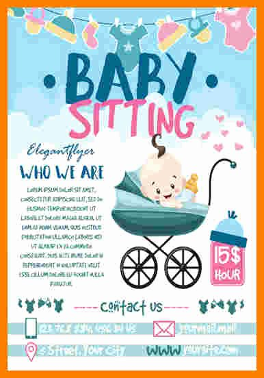 8 Babysitting Flyer Template