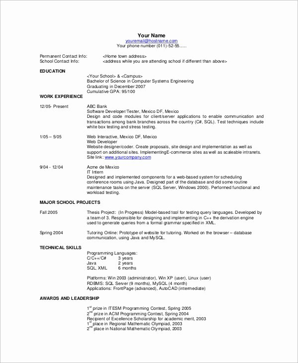 8 Basic Resume Examples
