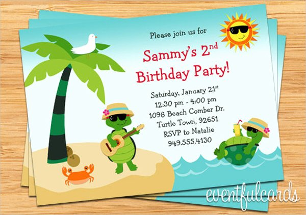 8 Beach Party Invitations Free Editable Psd Ai Vector