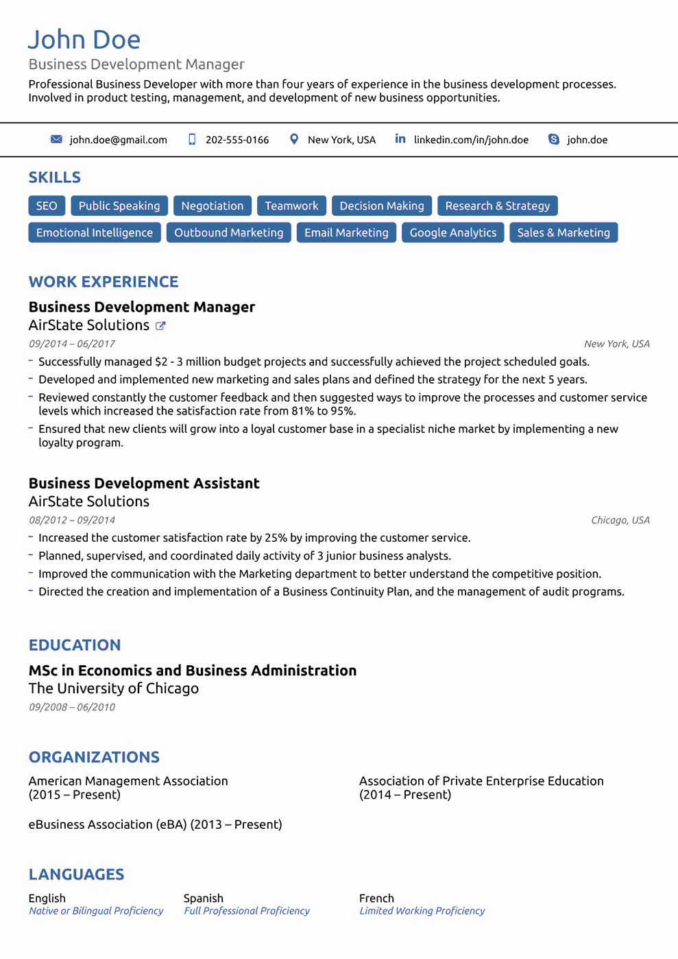 8 Best Line Resume Templates Of 2019 [download & Customize]