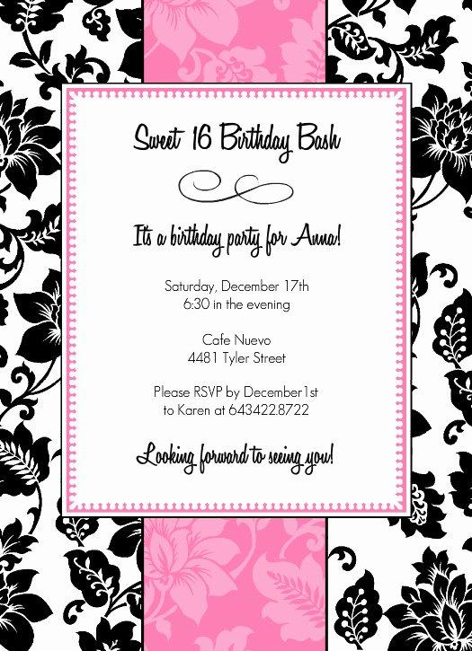 8 Best Of 16th Birthday Invitations Free Printable