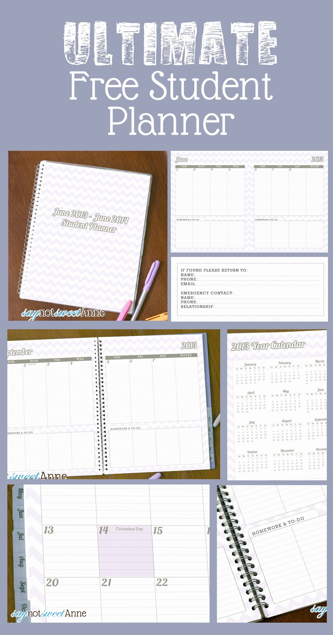 8 Best Of 2015 Student Planner Printable 2015