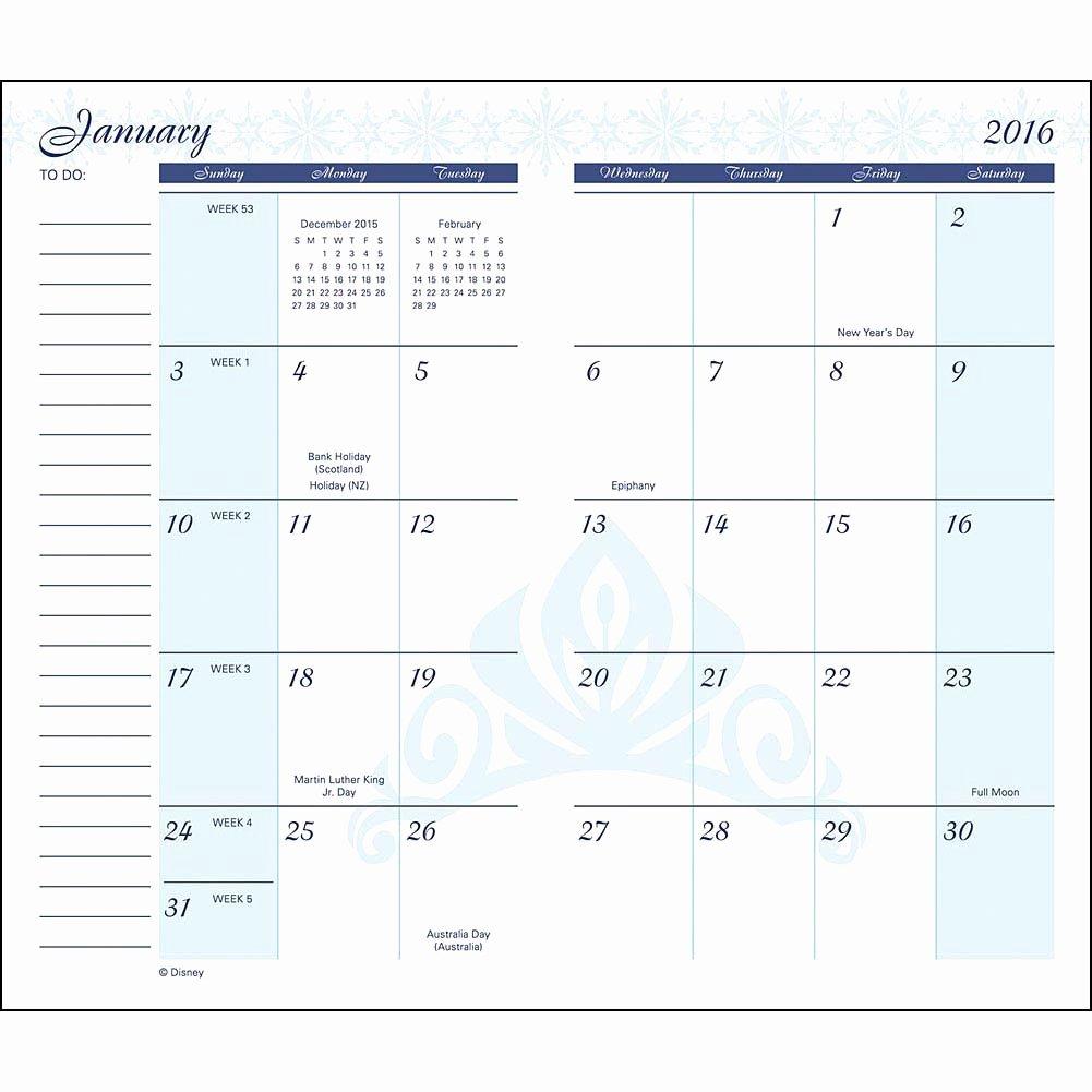 8 Best Of 2016 Pocket Planner Calendar Free