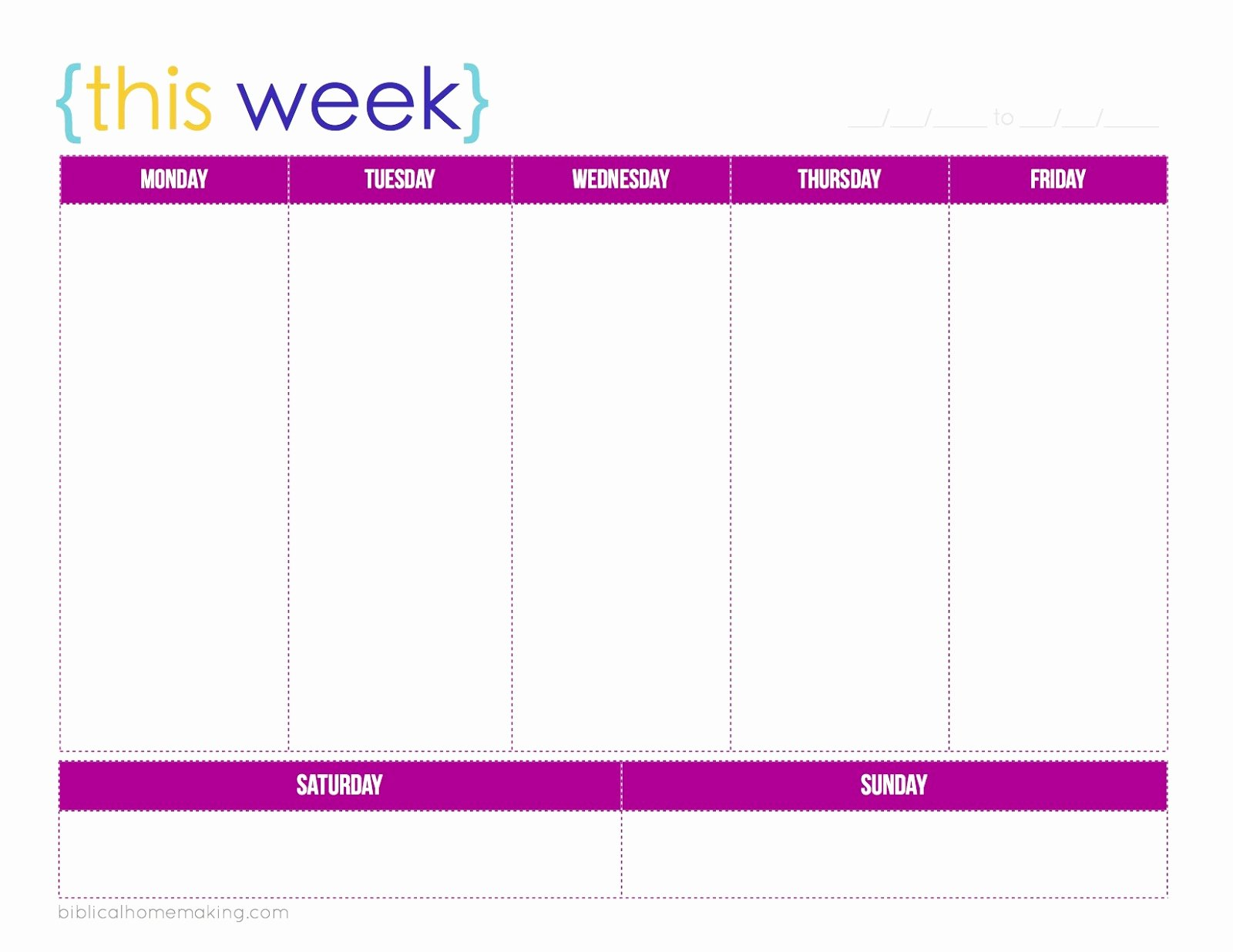 post 3 week calendar template printable