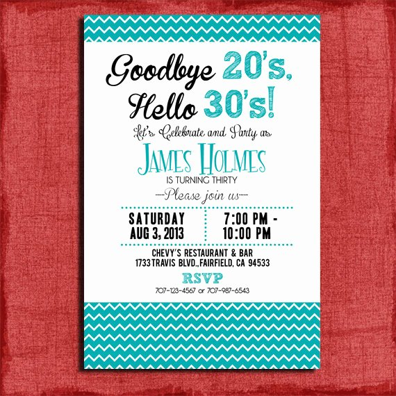 8 Best Of 30th Birthday Invitations Free Printable