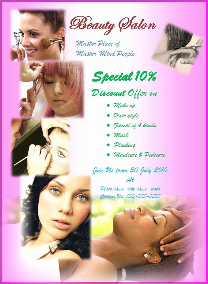 8 Best Of Beauty Salon Flyer Templates Hair Salon