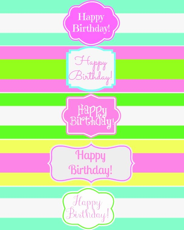 8 Best Of Birthday Printable Water Bottle Labels