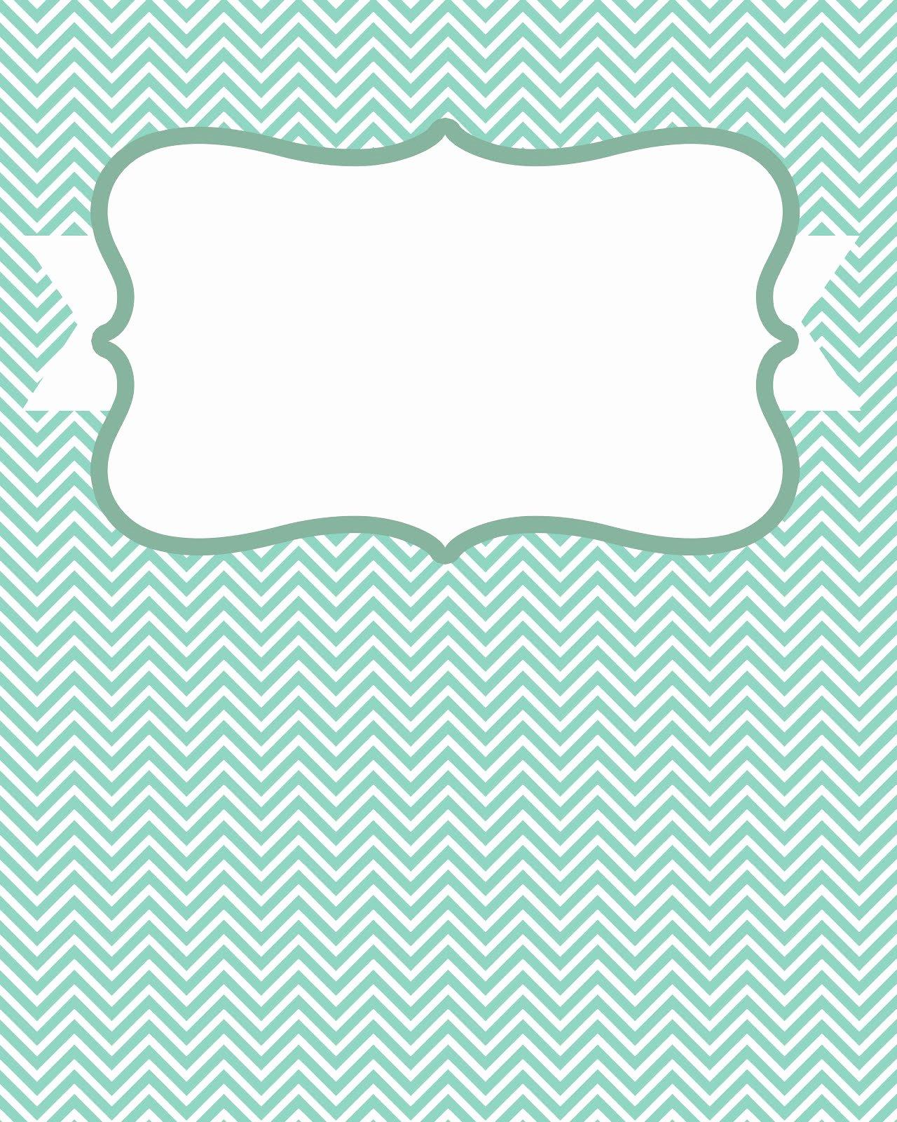 8 Best Of Blank Chevron Binder Cover Printables