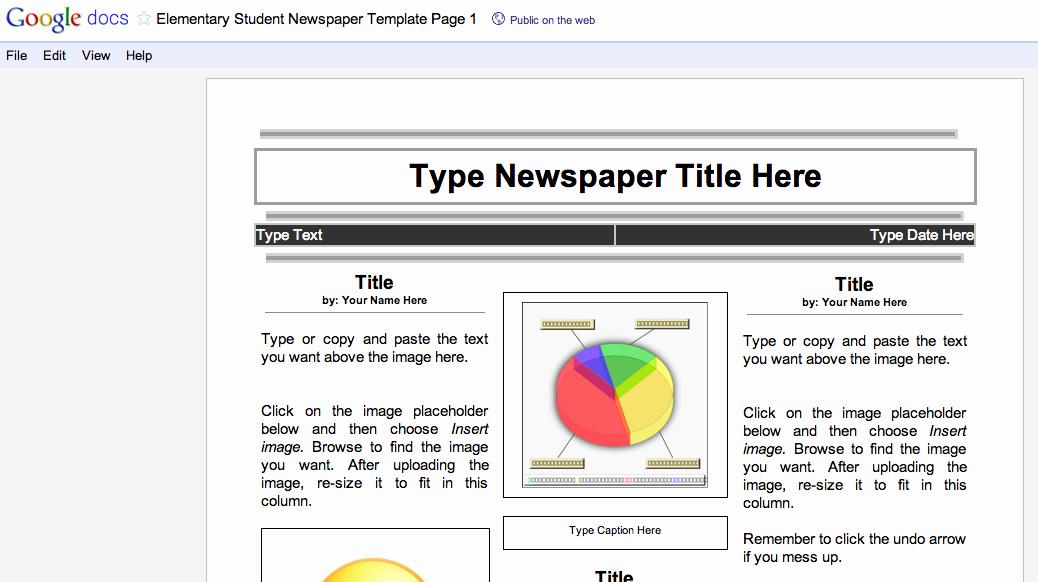 8 Best Of Blank Newspaper Template Pdf Free