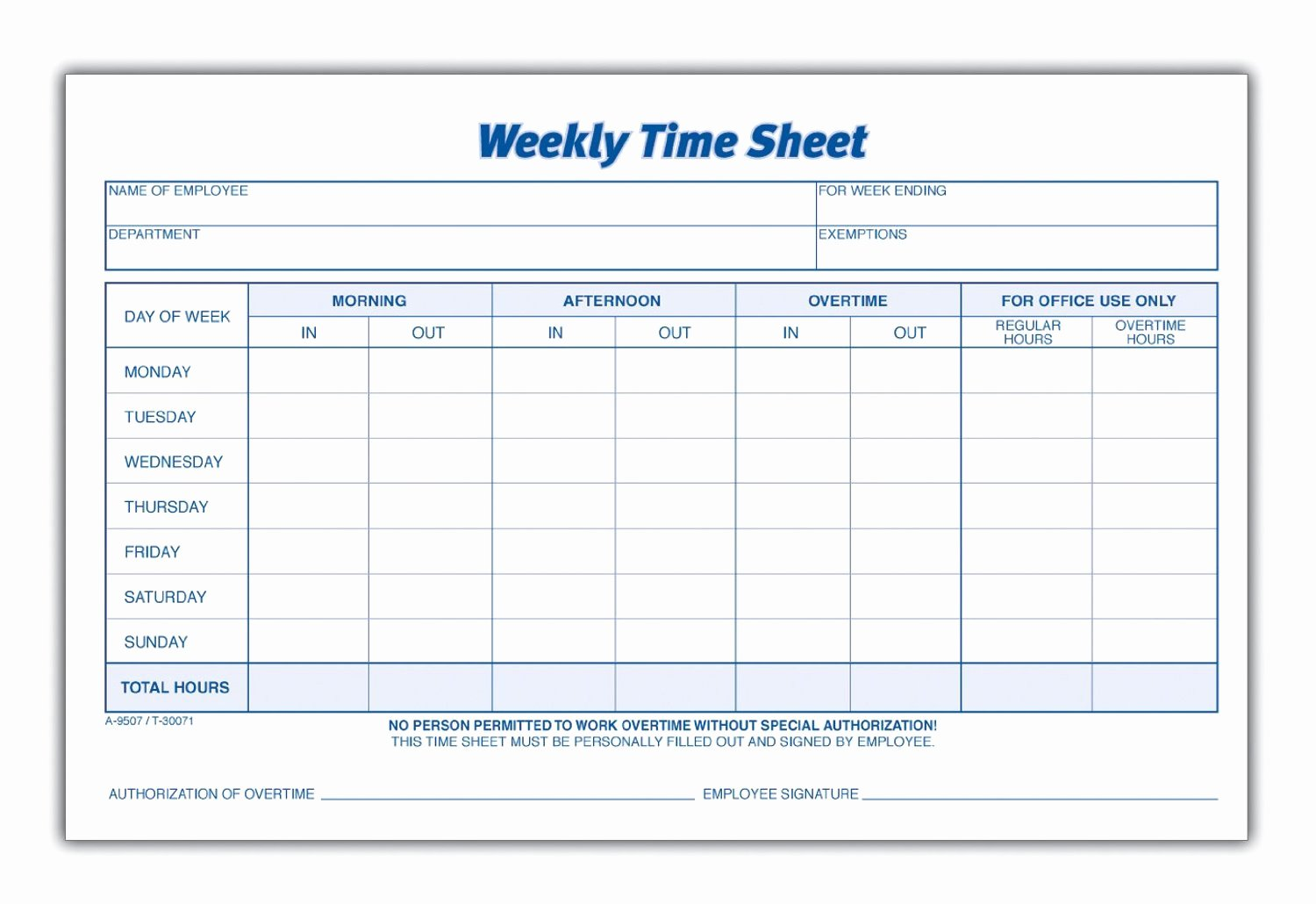 8 Best Of Blank Printable Timesheets Free