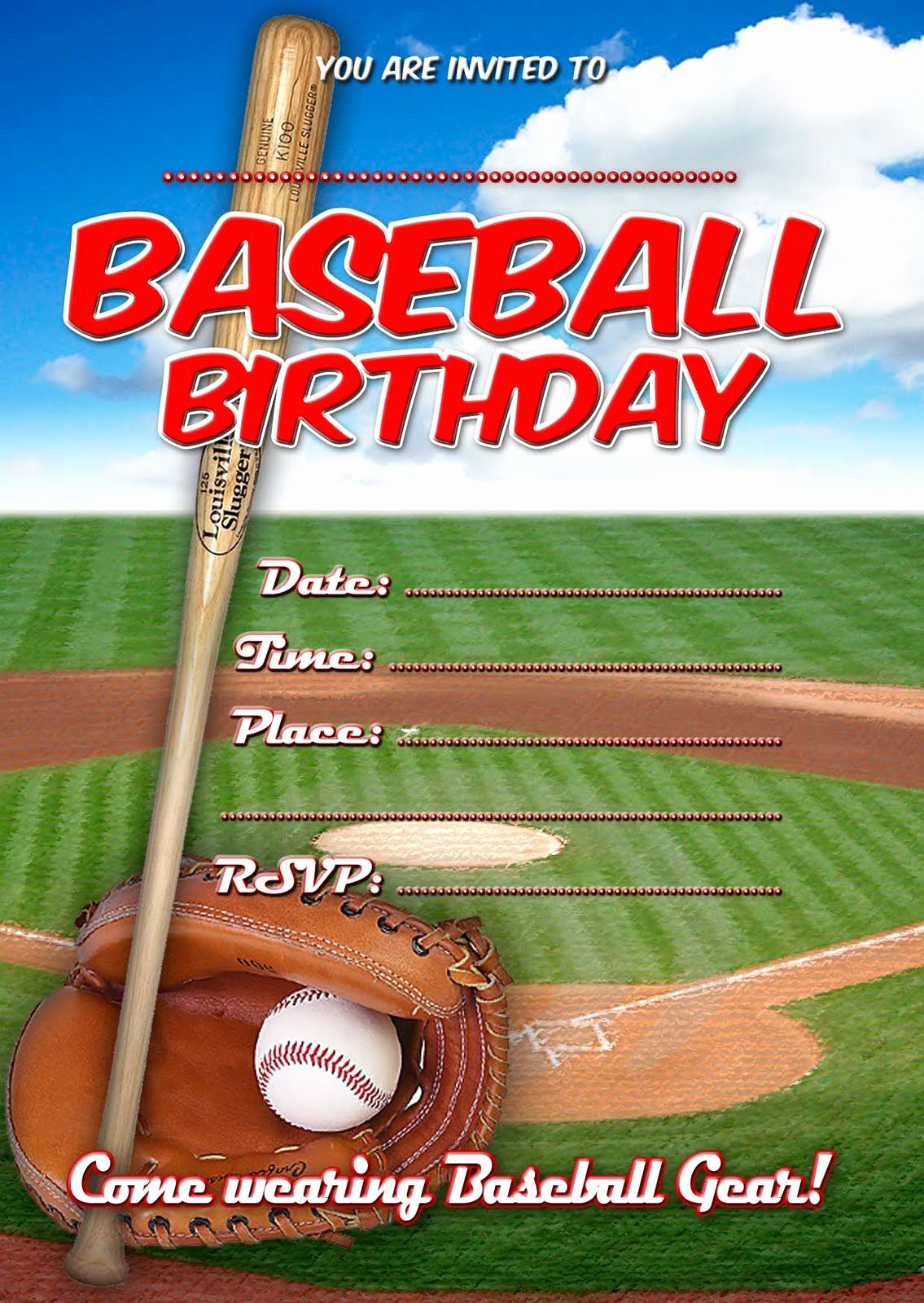 8 Best Of Boys Sport Birthday Invitations Free