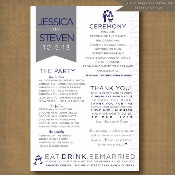 8 Best Of Ceremony Program Printable Wedding