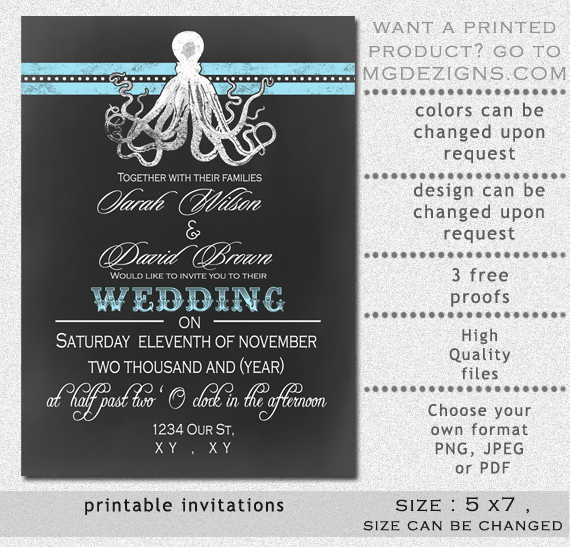 8 Best Of Chalkboard Printable Invitation Template