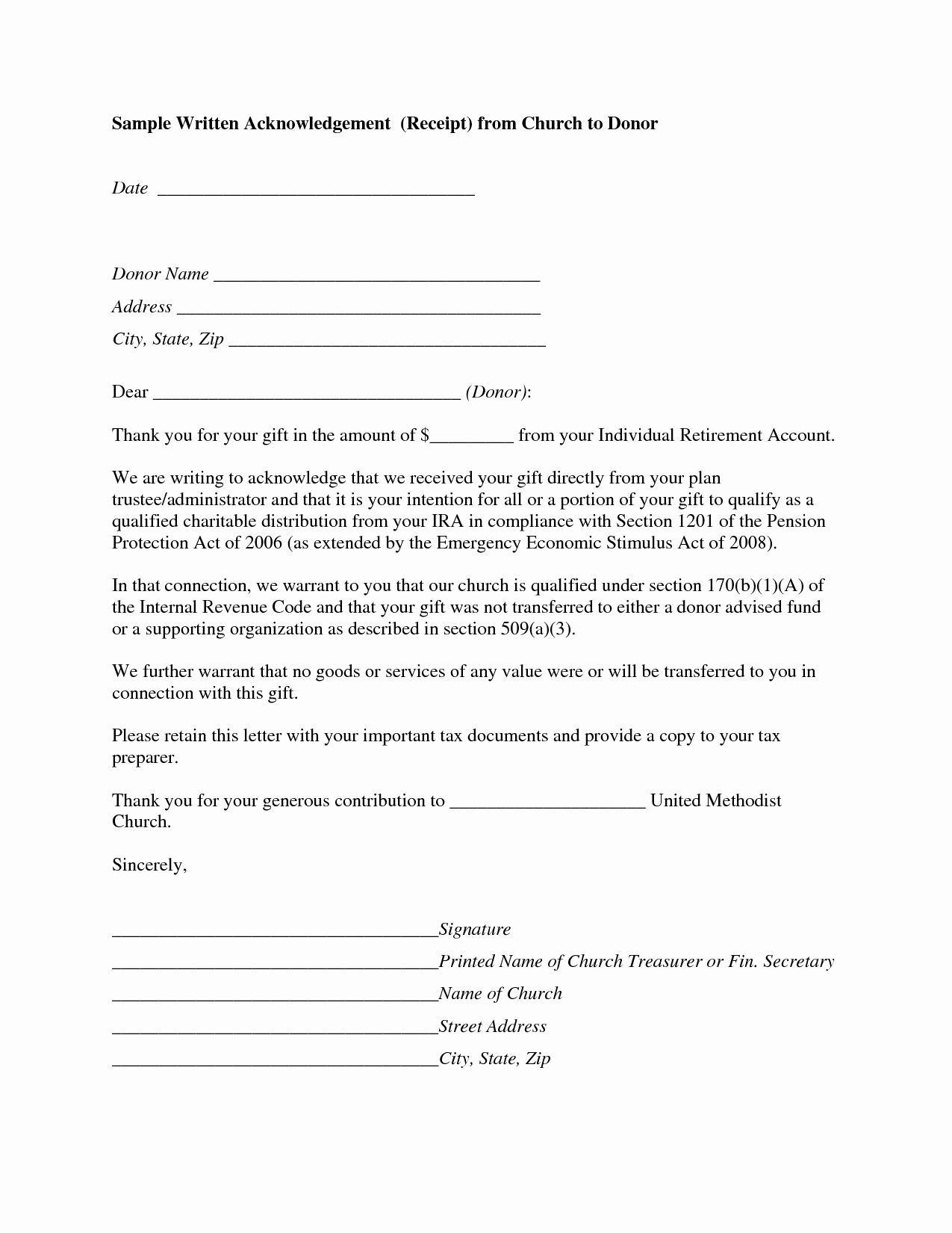 8 Best Of Church Letter for Donations form Church