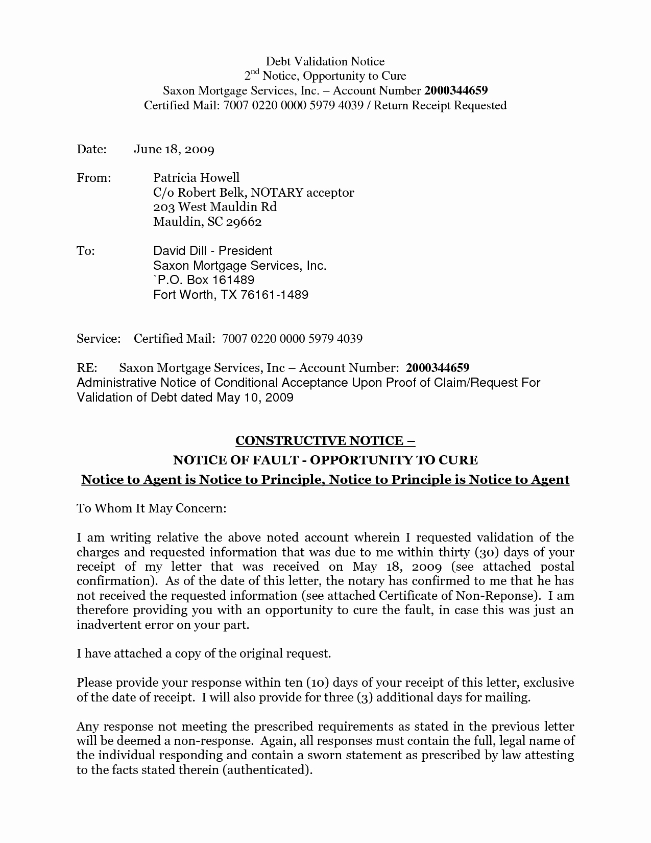 8 Best Of Cure Notice Template Notice Letter