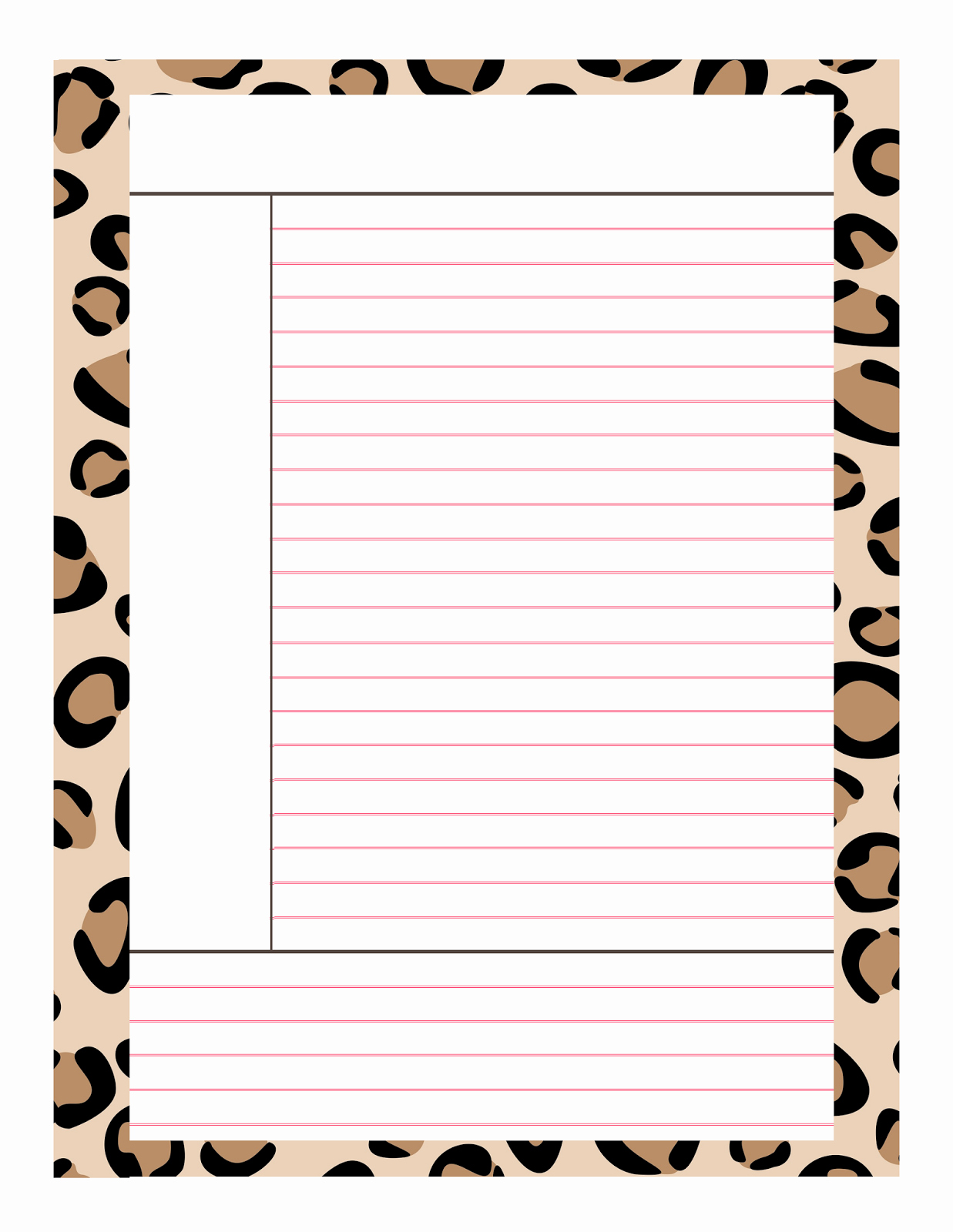 8 Best Of Cute Free Printable Notes Page Free